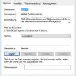 Windows10 WWW Publishingdienst
