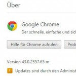 Chrome Browser Update Fehler