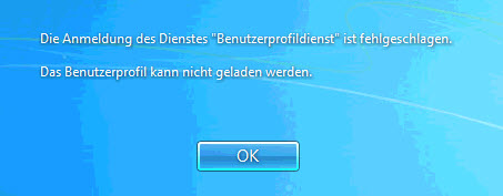 Benutzerprofil Kann Nicht Geladen Werden Windows 7