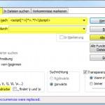 Notepad++ Regex Suche Ersetze