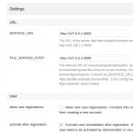Seafile Server WebGUI Konfiguration