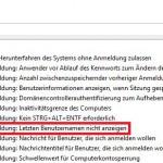 Windows10 Interaktive Anmeldung