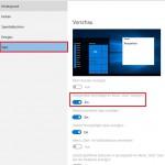 Windows10 Vorschläge
