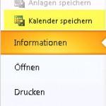 Outlook Kalender speichern