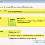 Outlook 2010 Kalender Export Details