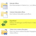 Outlook 2010 Menü Import