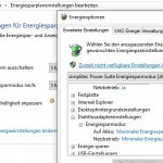 Windows Energieoptionen Drahtlosoptionen