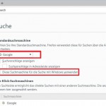 Windows 10 Suche Firefox Option