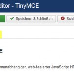 Joomla Plugin TinyMCE Erweitert