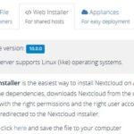Nextcloud 10 Webinstaller