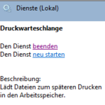 Windows 7 Dienst Druckwarteschlange