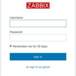 Zabbix 3 Webfrontend Login